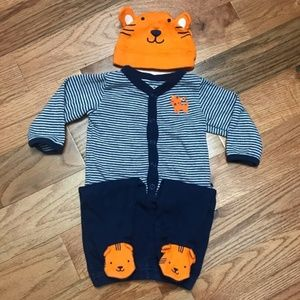 Carter's Navy Tiger Shirt and Pant Baby Outfit